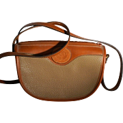 Coldwater Canyon Taupe British Tan Split Leather Pebbled Small Shoulder Bag Crossbody