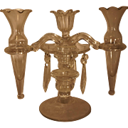 Cambridge Arms Candelabra Epergne Vases Three Light Candle Holder Two Vases