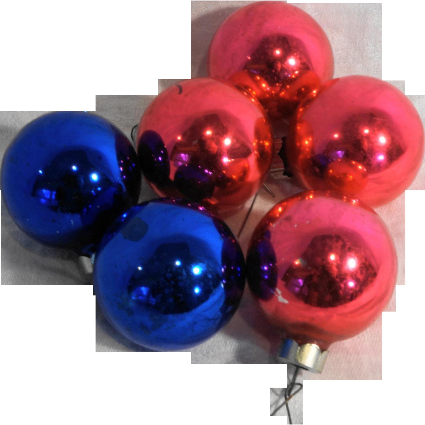 Shiny Brite Rauch Mixed Small Ball Christmas Ornaments Pink Blue