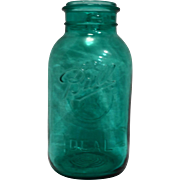 Ball Ideal Half Gallon Blue Bicentennial Jar No Lid