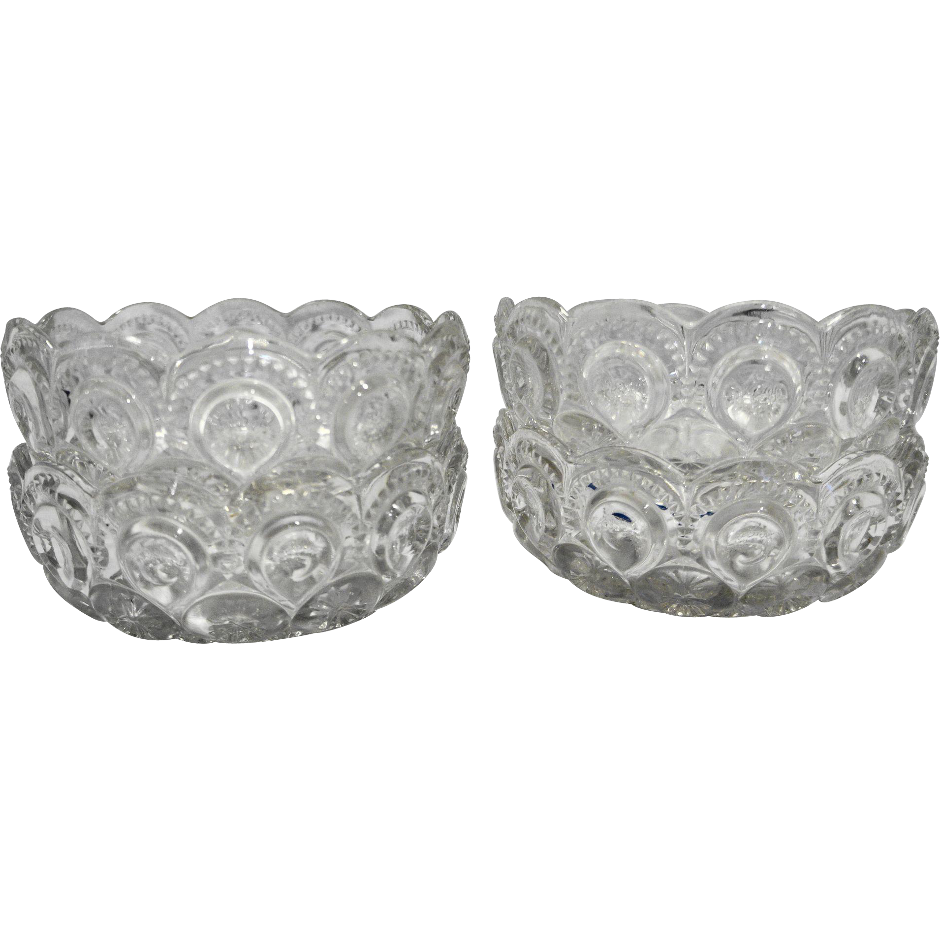Moon Stars Clear Nappy Small Bowls Set of 4 LE Smith
