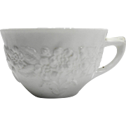 Orange Blossom White Milk Glass Cup Indiana Glass