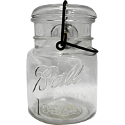 Ball Ideal Clear Glass Wire Bale Pint Canning Jar