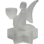 LE Smith Frosted Angel Star Base Candle Holder