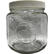 Anchor Hocking Golden Harvest Short Canister White Lid
