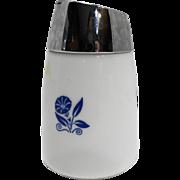 Corning Blue Cornflower Sugar Shaker Chrome Lid Santa Barbara Dispensers