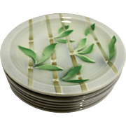 Syracuse Bamboo Bread Plates Restaurant Ware Set of 6