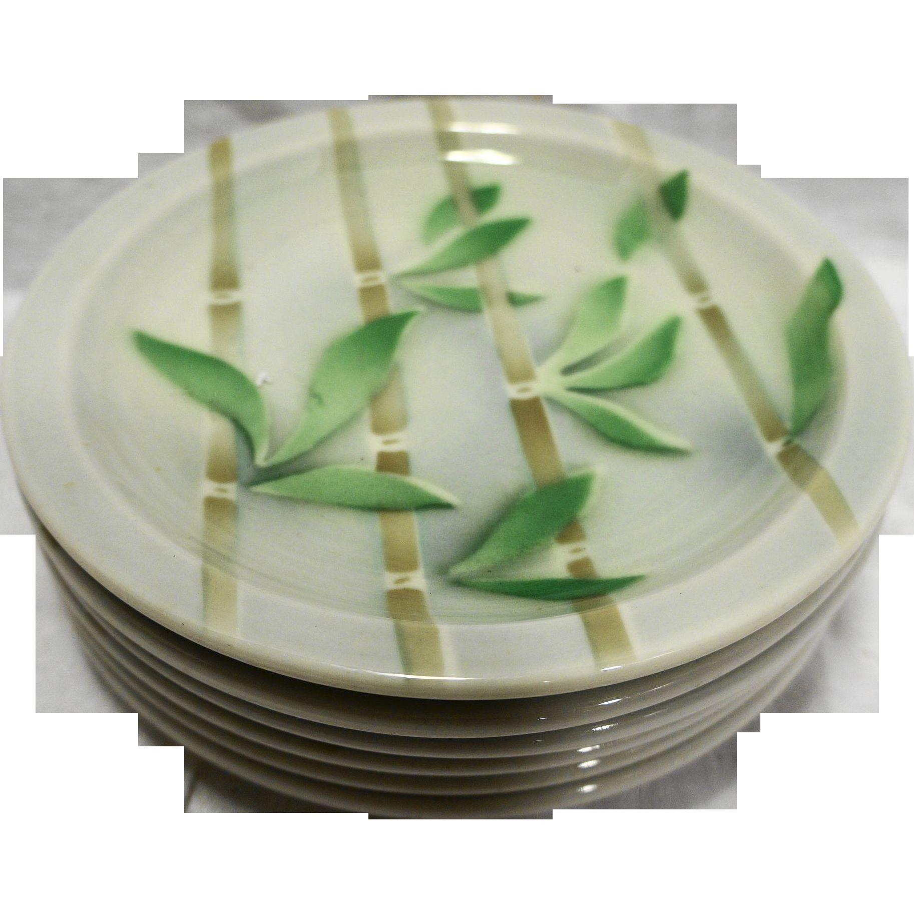 Syracuse Bamboo Bread Plates Restaurant Ware Set of 6