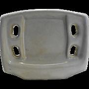 1950s Tootbrush Holder White Ceramic Wall Mount