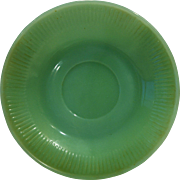 Jane Ray Jadeite Jadite Green Glass Saucer Fire King Anchor Hocking