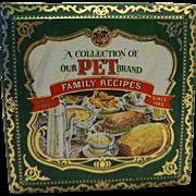 PET Brand Family Recipes Tin Recipe Cards Made in England