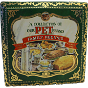 PET Brand Family Recipes Tin Recipe Cards Made in England