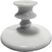 White Milk Glass Candle Stick Taper Single Light