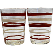Red White Stripe Swanky Swig Shot Glasses