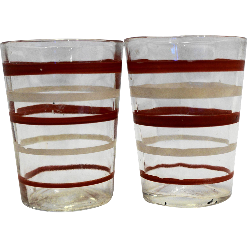 Red White Stripe Swanky Swig Shot Glasses