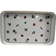 Villeroy & Boch Petitie Fleur Italy Melmac Plastic 18 IN Tray White Floral