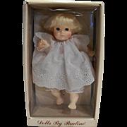 Pauline Bjonness Jacobsen Design Baby Girl 911420 White Apron 10 IN Vinyl NRFB