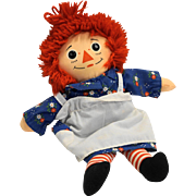 Raggedy Ann 12 IN Cloth Doll Playskool 1987 Hasbro