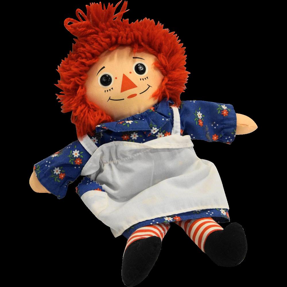 Raggedy Ann 12 IN Cloth Doll Playskool 1987 Hasbro from ...