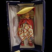 Lenci Chiara 20 IN Felt Doll 1984 NRFB Complete PInk Yellow Hat Dress Mint