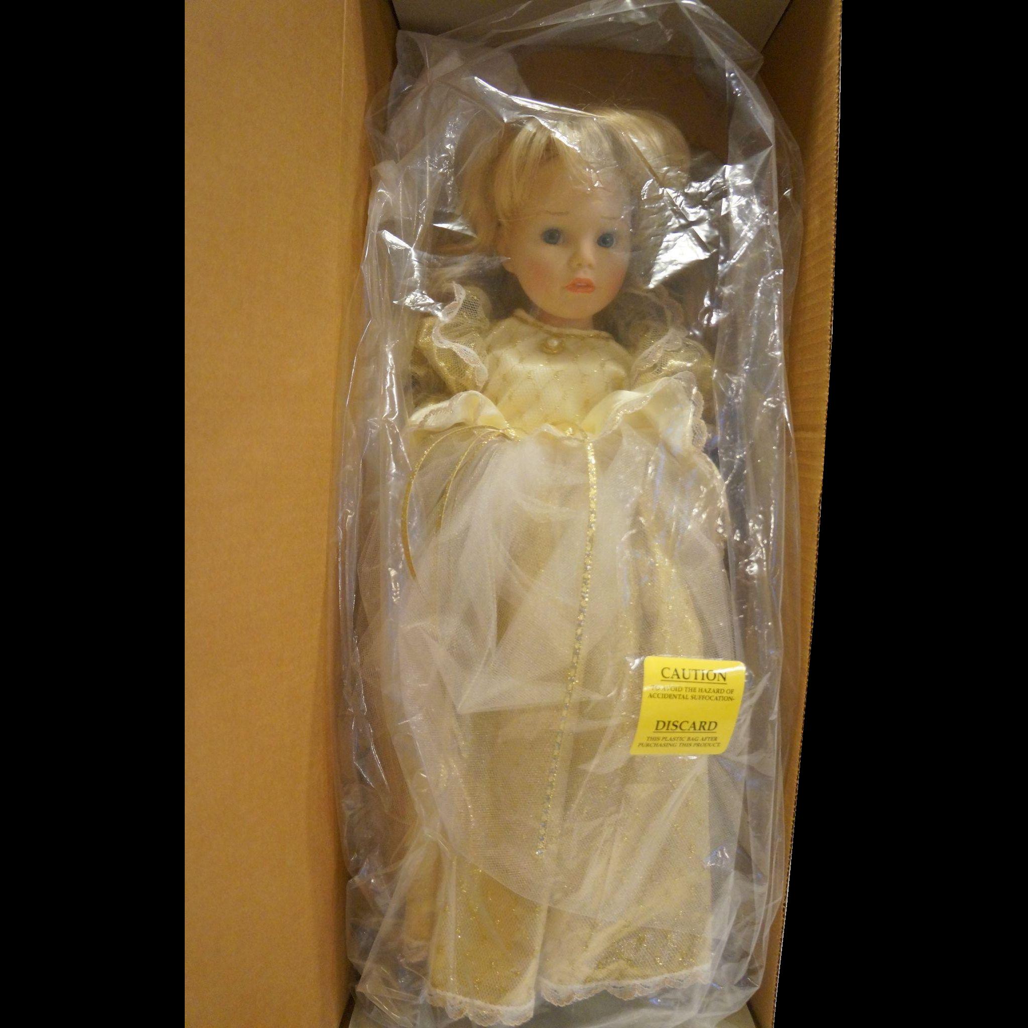 Susan Wakeen Cinderella Doll 19 IN Limited Edition 294/5000 NIB White Gold Dress