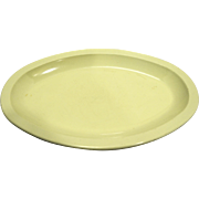 Dallas Ware Pale Yellow Oval Tray Plate 10 IN