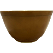 Pyrex Solid Brown Small 401 1 1/2 Pt Mixing Bowl