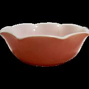 Hazel Atlas Ripple Crinoline Pink Cereal Bowl 1950s