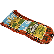 Scotland Souvenir Linen Printed Tea Towel Pot Holder Oven Mitt Combo
