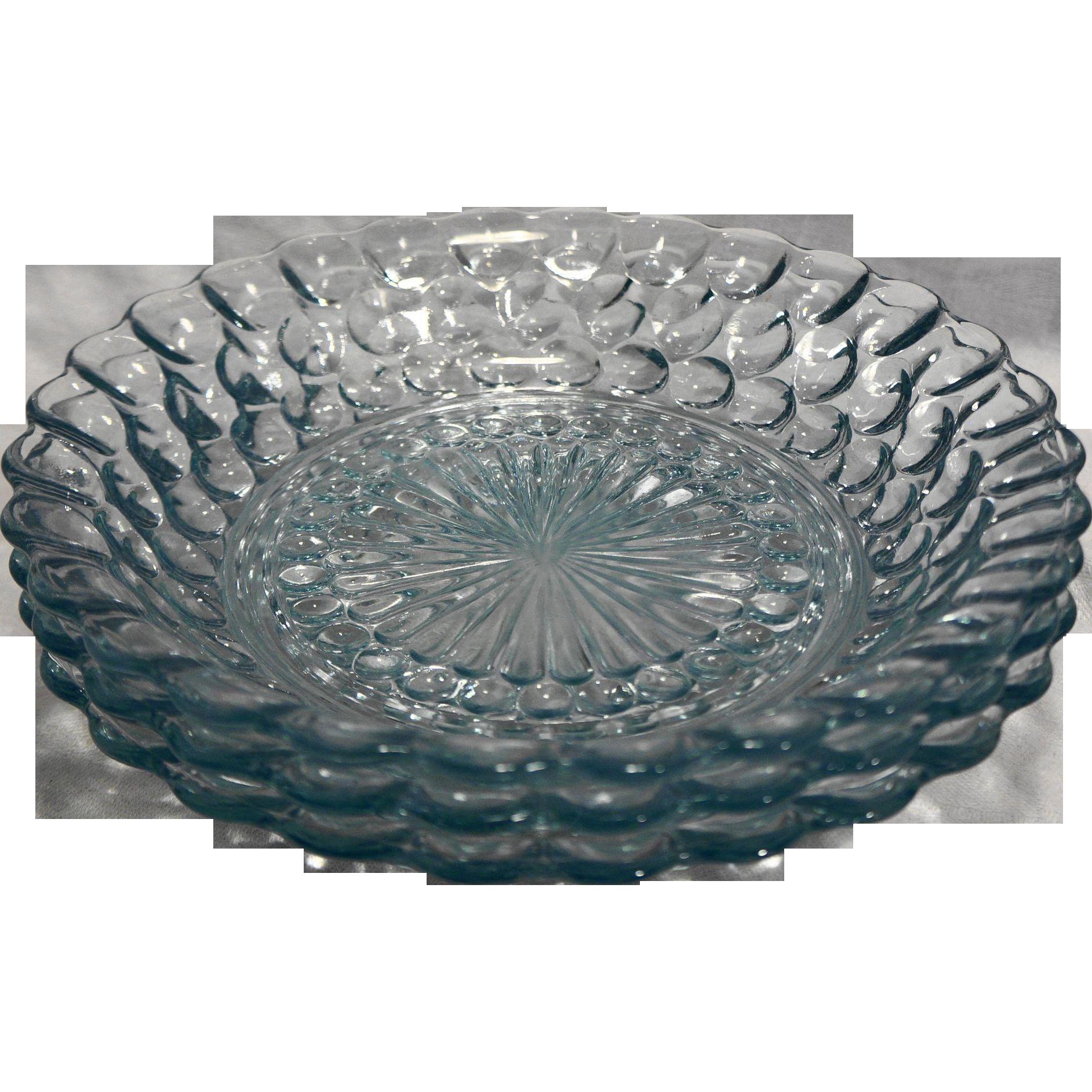 Anchor Hocking Bubble Sapphire Light Blue Flat Soup Bowls Set of 3