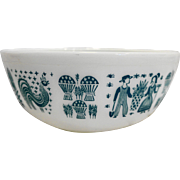 Pyrex Butterprint 404 Mixing Bowl Large Turquoise White