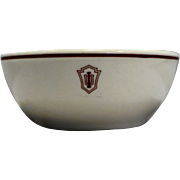 Indiana University IU Hoosiers Chili Bowl Soup Cereal Restaurant Ware Homer Laughlin