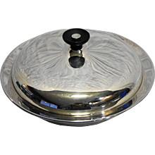 Mid Century Modern Sheffield Silver Co USA Round Covered Vegetable Casserole Serving Dish