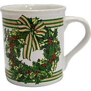 Hallmark Christmas Wreath Mug Made in Japan