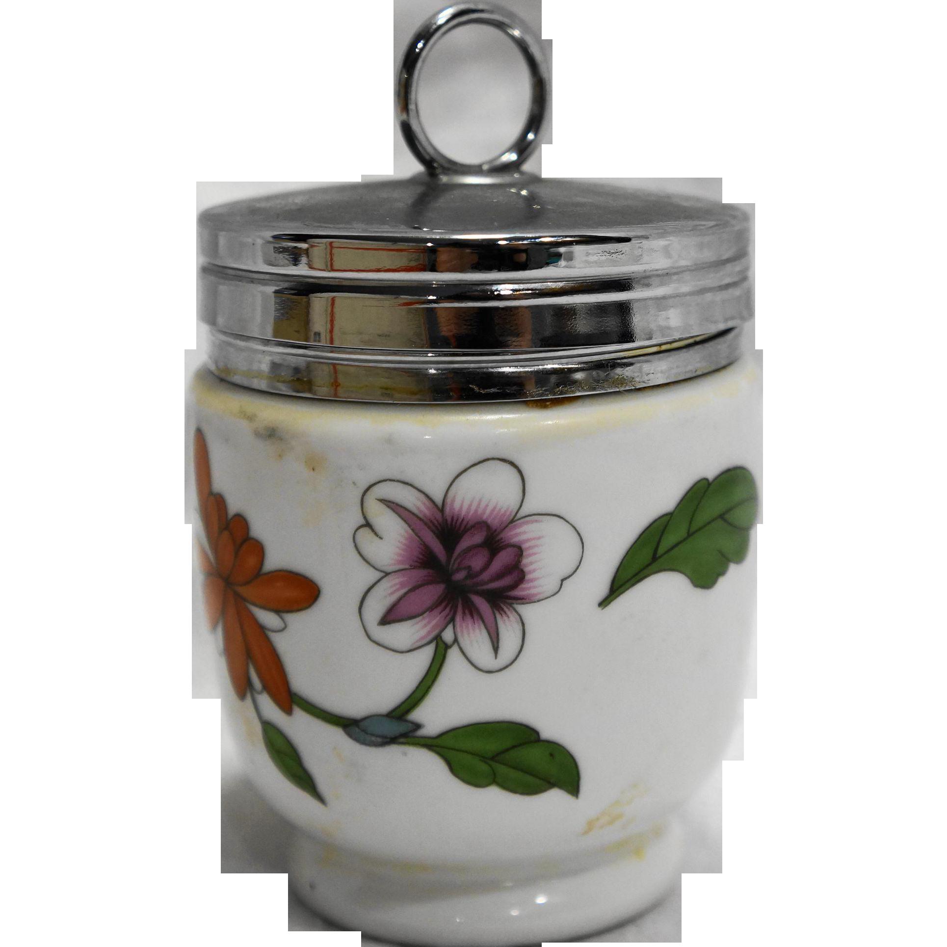 Royal Worcester Astley Egg Coddler Porcelain Floral King Size