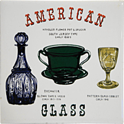American Glass Decorated Ceramic Tile Trivet