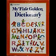 My First Golden Dictionary 1988 Hardback Tina Thoburn Jean Chandler