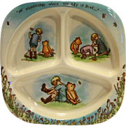 Selandia Winnie The Pooh Divided Melmac Plate On Wednesday When the Sky is Blue