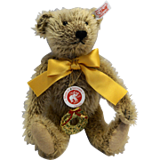 Steiff 125th Year Jubre Bear Cinnamon EAN 038860 Gold Ribbon 10 IN 2005 Ltd Ed