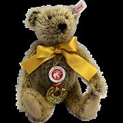 Steiff 125th Year Jubre Bear Cinnamon EAN 038860 Gold Ribbon 10 IN 2005 Ltd Ed