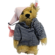 Steiff Teddy in the Clouds Bear Only 037948 2002 Ltd Ed Pajama Nightcap