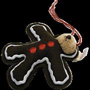 Steiff Gingerbread Man Teddy Christmas Ornament 666056 Ltd Ed 2000