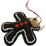 Steiff Gingerbread Man Teddy Christmas Ornament 666056 Ltd Ed 2000