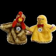 Steiff Club Edition Egg Cosy Hen Chick Set 2003 420344 Mohair