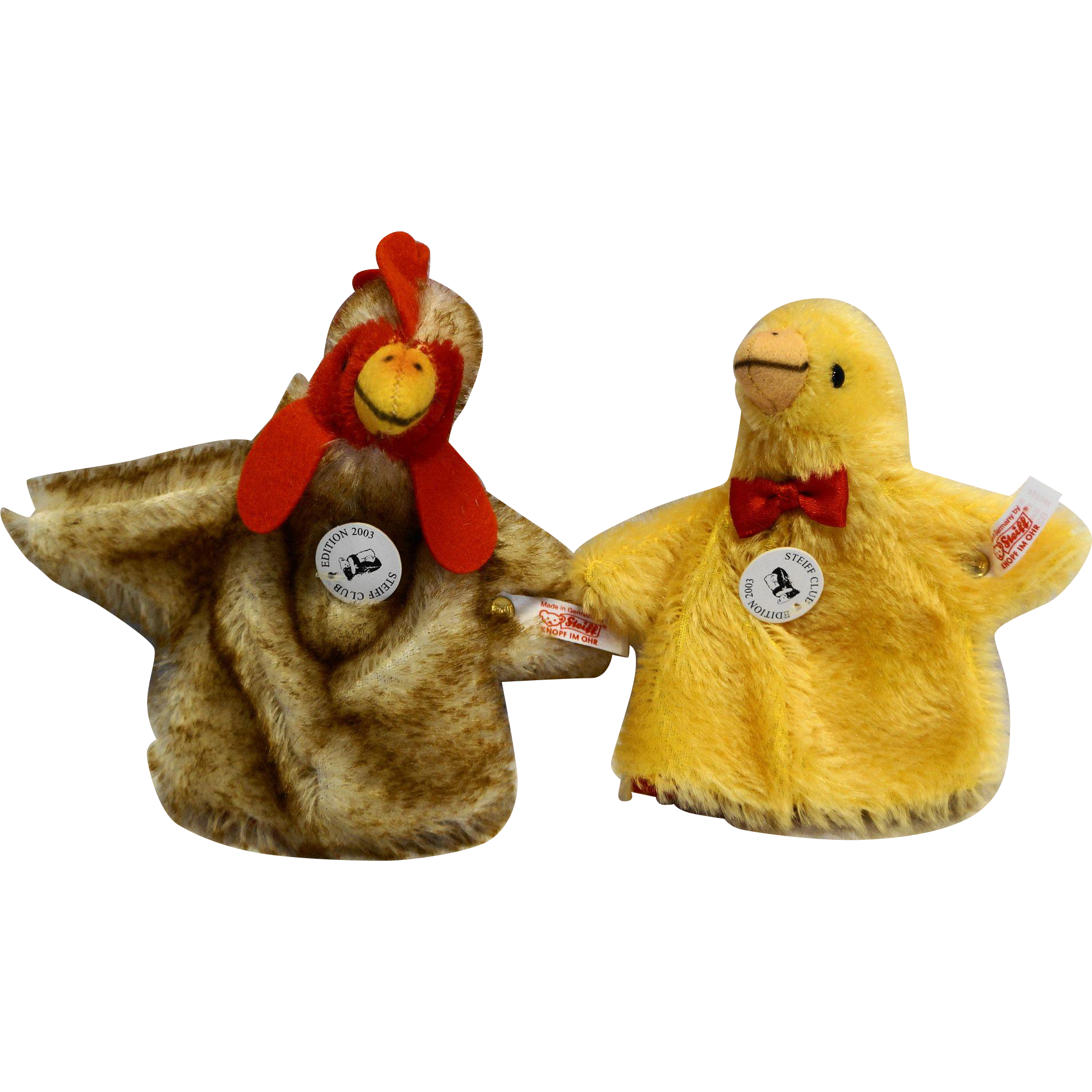Steiff Club Edition Egg Cosy Hen Chick Set 2003 420344 Mohair