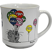 Sandra Boynton Mom Mother's Day Cup Mug Cat Holding Balloons