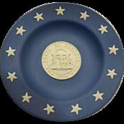Wedgwood State Seals Jasperware Georgia Plate 1976 Bicentennial