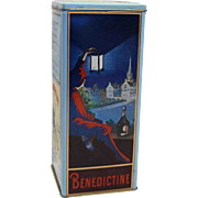 Benedictine Brandy B&B French France Liquor Tin Vintage