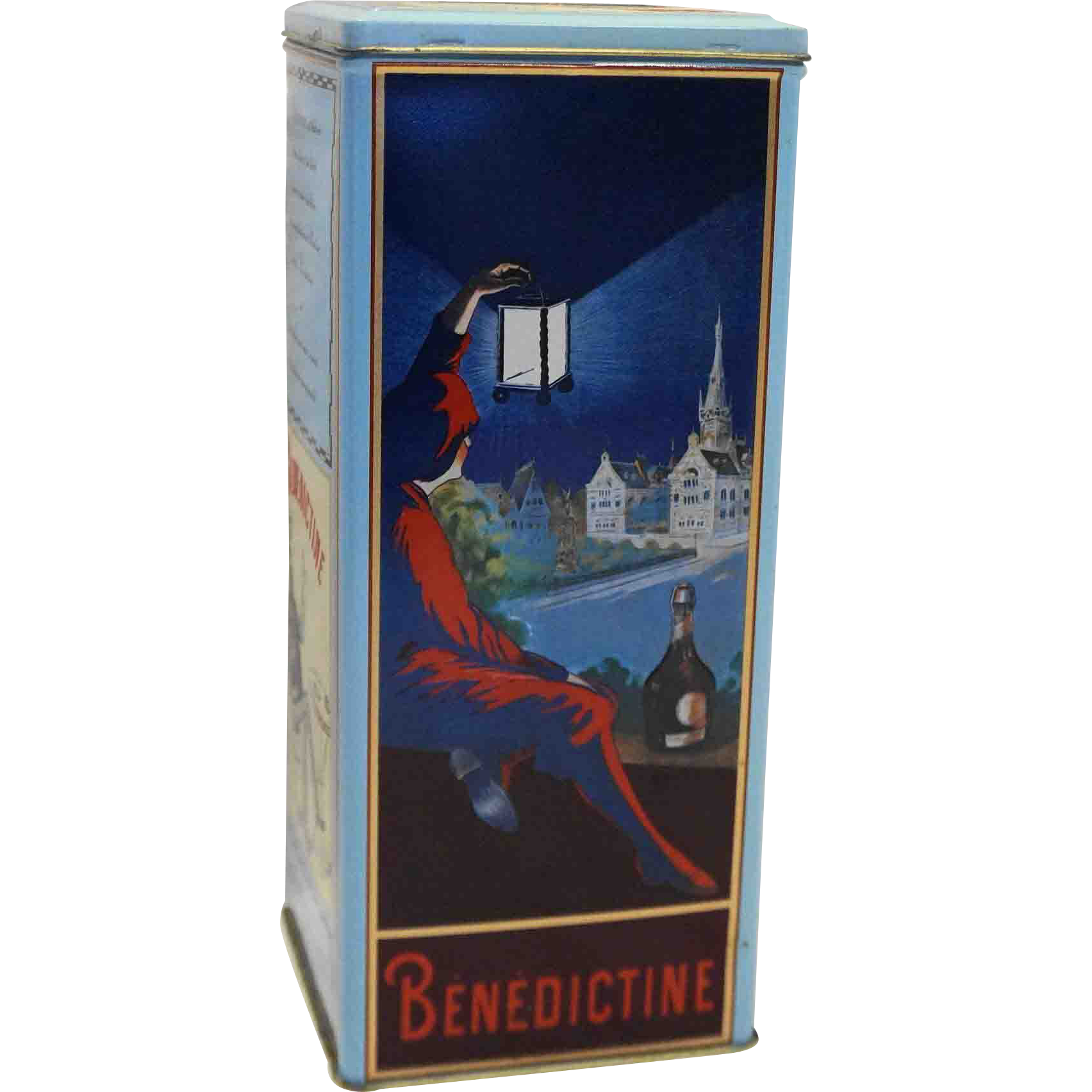 Benedictine Brandy B&B French France Liquor Tin Vintage