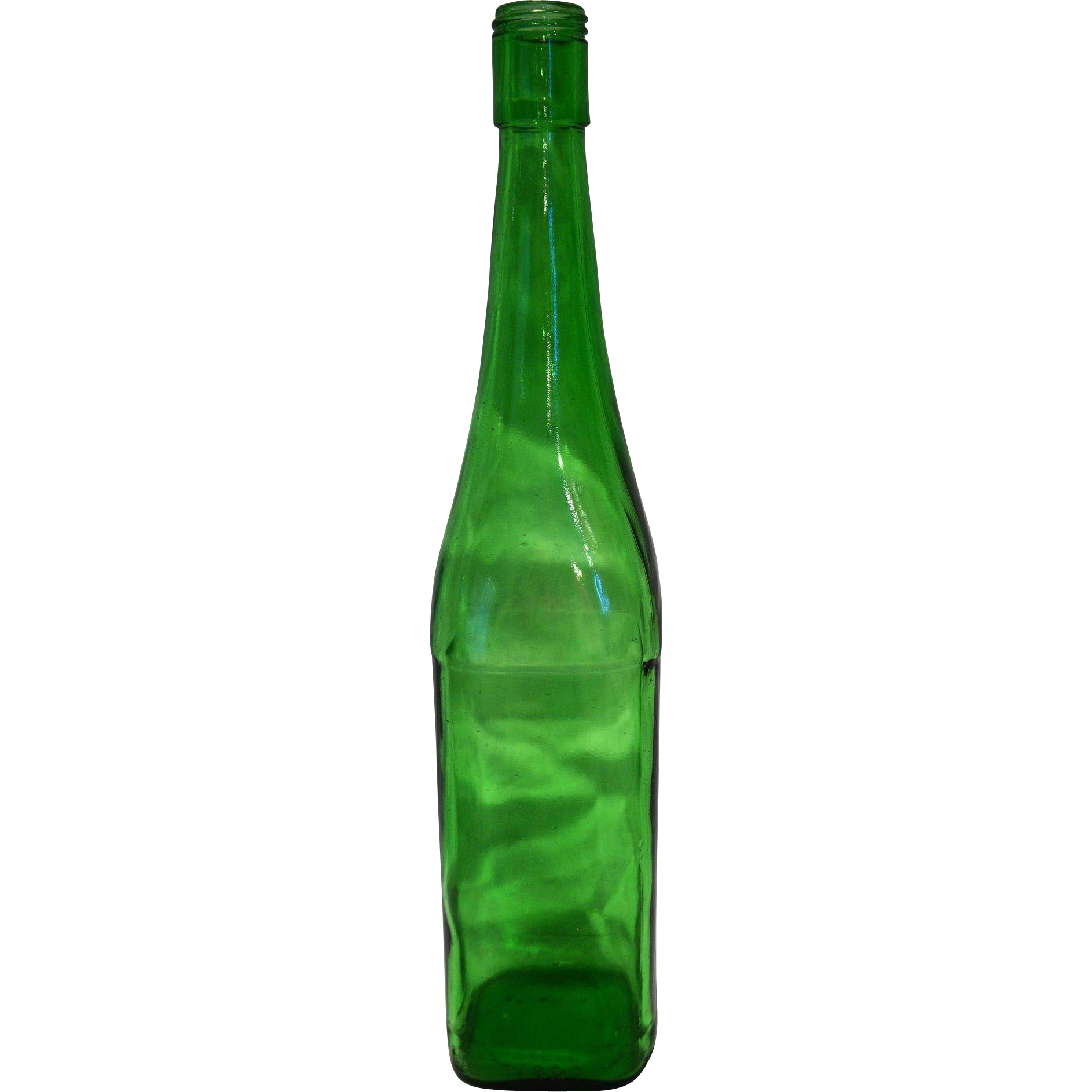Yago Rioja Santiago Green Onion Neck Vintage Wine Bottle Square Base